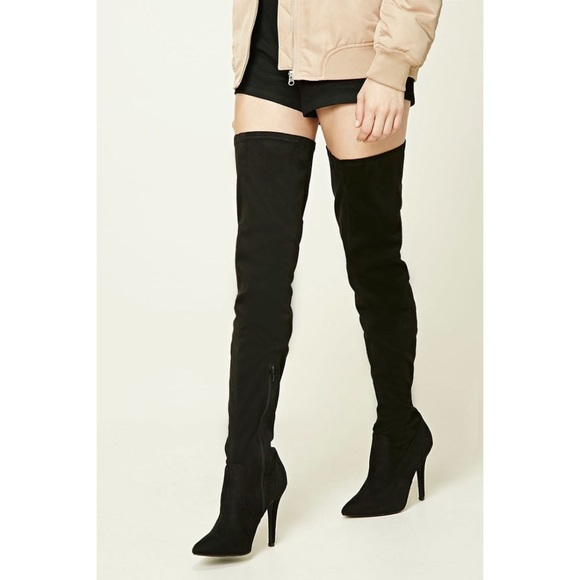 40877336b48 Charlotte Russe Shoes - Thigh High Heeled Boots