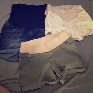 Pants - 3 pairs of maternity shorts