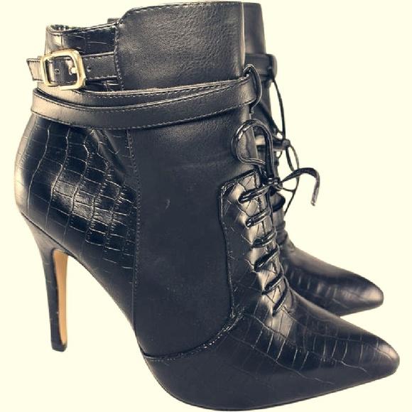 476b05d913a Altuzarra High Heel Croc Print Boots Booties 7.5 M