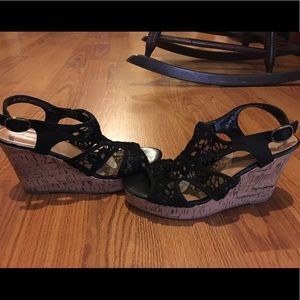 Shoes - American Eagle lace wedges
