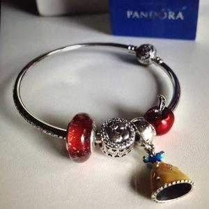 17742240d Pandora Jewelry | Disney Snow White Charm Set Of 4 New | Poshmark