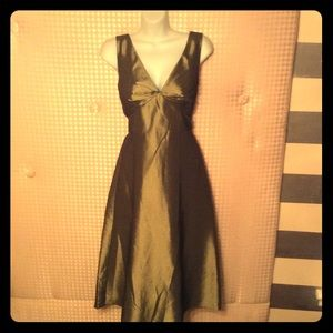 AFTER 6 OLIVE IRIDESCENT TAFFETA FORMAL DRESS NWT