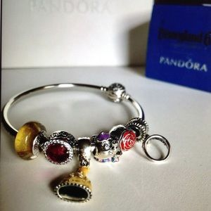 76df9a8f5 Pandora Jewelry | Disney Belle Charm Set Of 6 | Poshmark