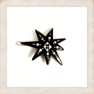 Gorgeous Vintage Star Barrette with Rhinestones!