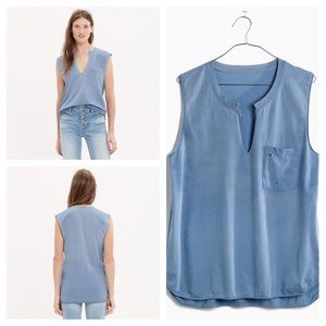 Madewell Easygoing muscle tee Blue Medium