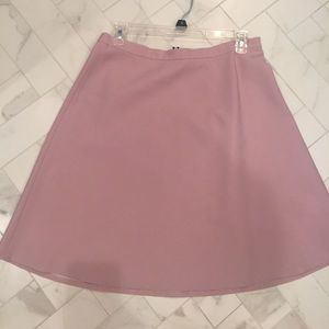 Dusty Pink Theory Aline Wool Skirt