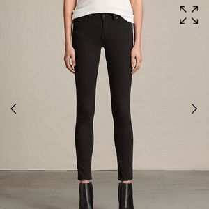 All saints mast black skinny jeans