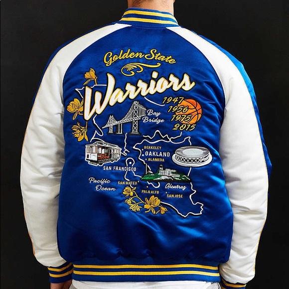 1479c3f26fa Rare Urban Outfitters Starter Warriors Jacket. M 59fe78b8bcd4a7d8df0b4fdd