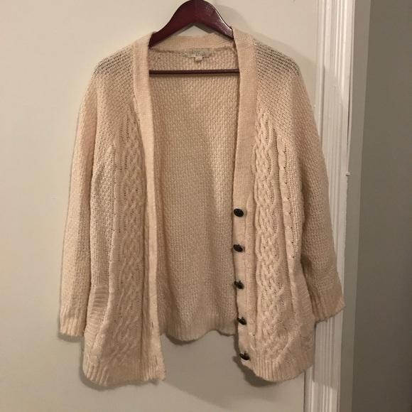 50% off Olive & Oak Sweaters - Olive & oak chunky beige cardigan ...