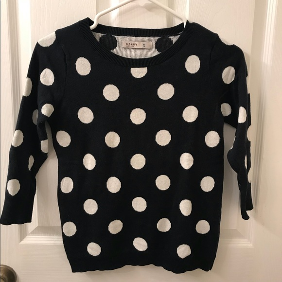 Old Navy Sweaters - Polka Dot Navy Sweater