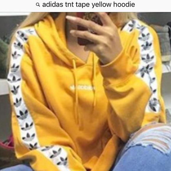 Adidas Tnt Hoodie Taped Hoodie Adidas Taped Yellow Yellow Tnt FK1cTlJ
