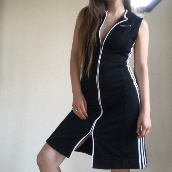 2cab19cf6d9 adidas Dresses & Skirts - Vintage zip up adidas dress