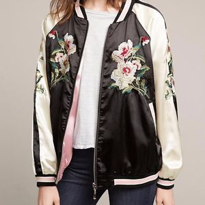 Anthropologie On the Road embroidered bomber