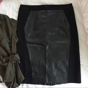 LOFT Skirts - LOFT Faux Leather Pencil Skirt