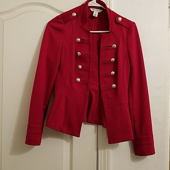 White House Black Market Jackets & Blazers - red military jacket