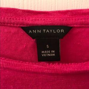Ann Taylor Tops - Ann Taylor Stretch Linen Bright Pink Blouse