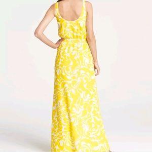 70d8fe5333 Ann Taylor Dresses - Ann Taylor Yellow & White Summer Scroll Maxi Dress