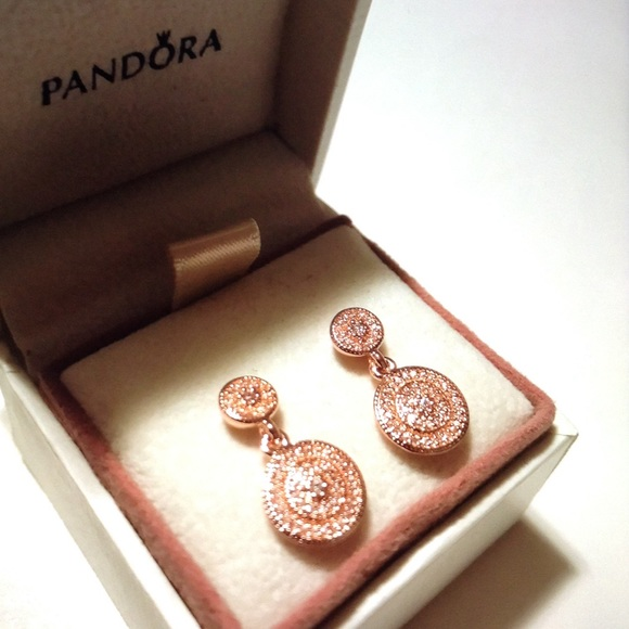 424f5735c Pandora Jewelry | Radiant Elegance Rose Gold Earrings New | Poshmark