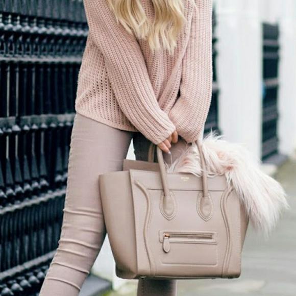 da65b3262aa6 Celine Handbags - LARGE NUDE SMOOTH LEATHER CELINE MINI LUGGAGE