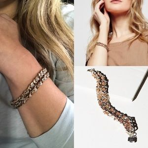 New free people woven double chain bracelet