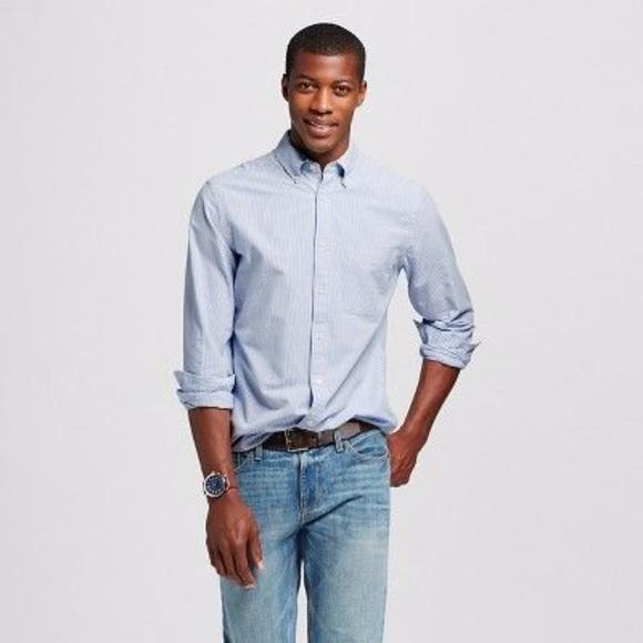 d96f4db1b249 Merona Shirts   New Mens Striped Oxford Shirt Bluewhite   Poshmark