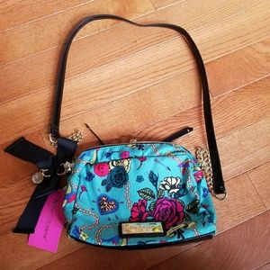 Betsey Johnson Turquoise Floral Purse