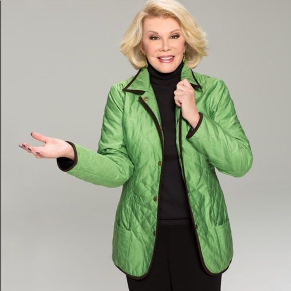 04ea3925a Joan Rivers green barn quilted jacket