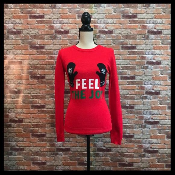 rue 21 christmas feel the joy mitten sweater - Feel The Joy Christmas Sweater