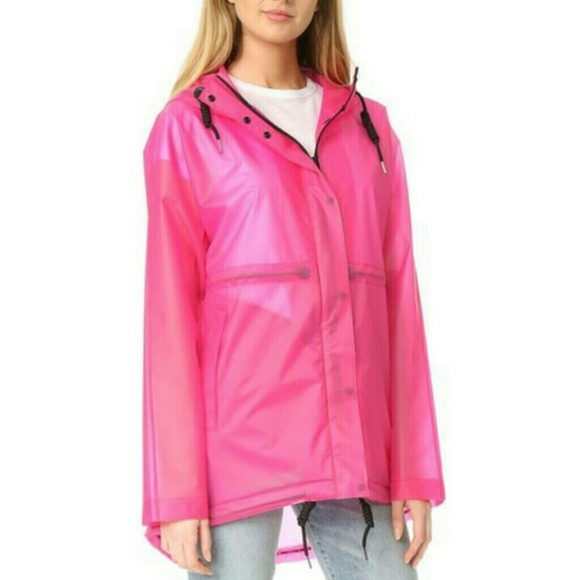 how to buy cheapest sale price reduced Hunter Clear Pink Rain Jacket NWT