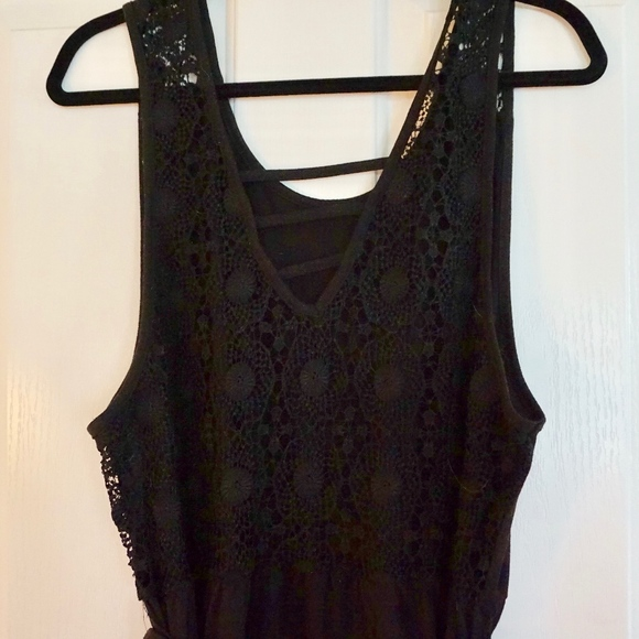 Dresses & Skirts - Sexy Black Embroidered Maxi Dress