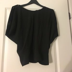 Black blouse with cut out back