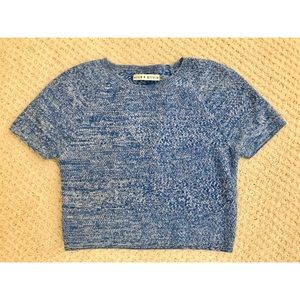 Alice + Olivia Cropped Blue Sweater
