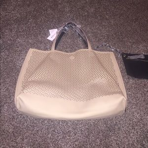 Just fab tote bag with pouch NWT