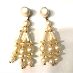 Vintage faux pearl earrings