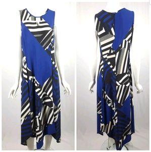 Chicos Medium Geometric Print Maxi Dress