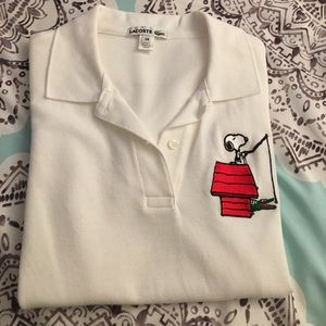 Lacoste Tops - LACOSTE Women's Snoopy Polo