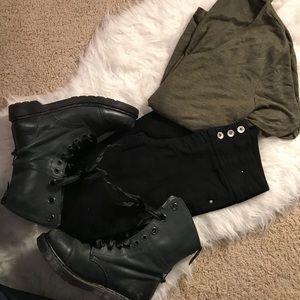 Denim - High Waisted Black Skinny Jeans