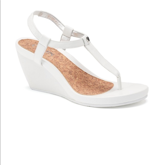 c1b7b9c94b Chaps Shoes | Womens White Wedge Sandals | Poshmark