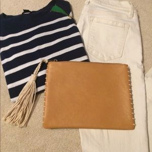 Mossimo Supply & Co Tassel Faux Leather Clutch