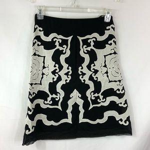 Vivienne Tam Applique A Line Skirt Size 2 (Medium)
