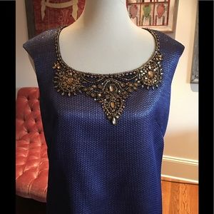 Marchesa Jeweled front dress NWOT