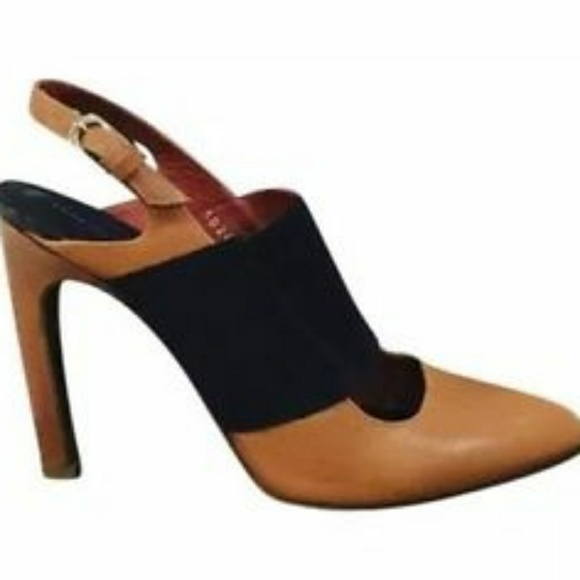 f2d1eabdbc42ee  SALE  Dries VN Camel Leather Slingback sz 7.5