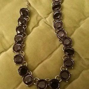 Jewelry - Navy gem stone statement necklace