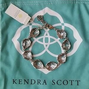 Kendra Scott Clear Brynn Rhodium Silver