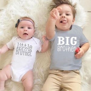 "Little Brother"" Short Sleeve Onesie NWT"