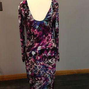 e2b5c6e689e Ladies Jennifer Lopez Floral Animal Print Dress