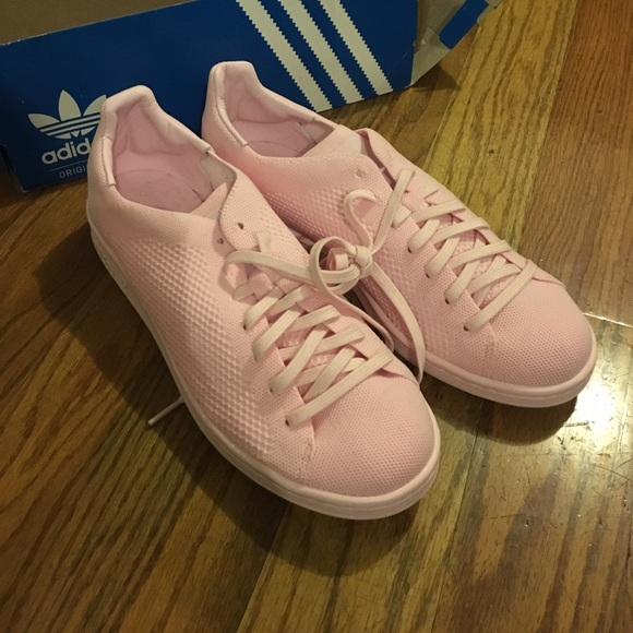 best sneakers 25a88 091d2 Adidas Stan Smith Prime Knit Pink Shoes men's 9 NWT