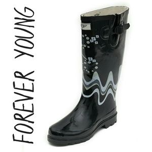 Women Tall Rainboots, #1507, Fireworks