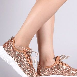 Shoes - Hot selling Glitter ROSE GOLD Sneaker