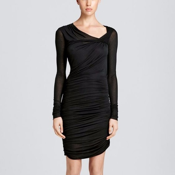 fc8857f1d Helmut Lang Dresses | Black Ruched Dress | Poshmark